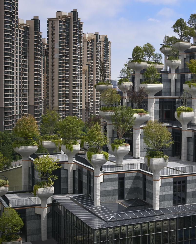 1000 Trees – niesamowity kompleks budynków porośniętych drzewami